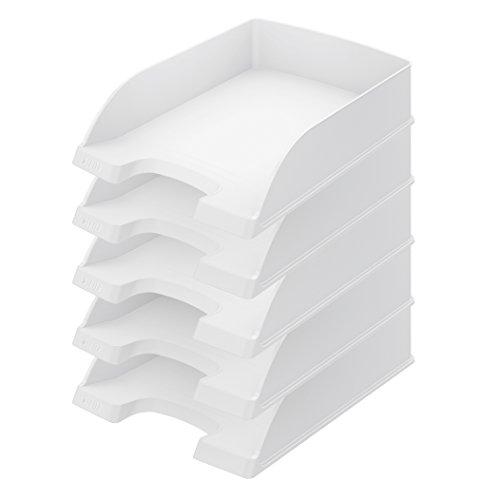 Leitz Plus Briefablage 70mm, 5Stück Höhe 70 mm weiß