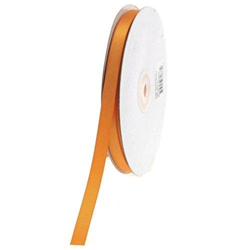 (Orange) - Homeford FHV000031833 50 yd Double Face Satin Ribbon, 1cm , Orange -