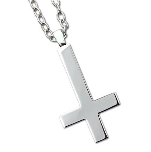 Toms-Silver Anhänger Umgedrehtes Kreuz Länge 6,5cm mit Kette aus Edelstahl Gothic