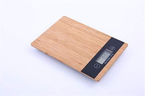 Ms.reia bilancia da cucina digitale, bambù elettronico da cucina bilance da cucina per cucina domestica cottura cibo 5kg / 1g grammo accurato