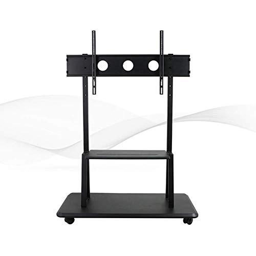 IG Haushalt Dual Use Mobile TV-Bodenständer für 55-110 Zoll Höhenverstellung Räder Mobile für Flachbildschirm-LED-LCD-Plasma-Bildschirm Schlafzimmer Wohnzimmer (Tv-bodenständer Räder)