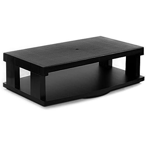 Aleratec Robusto supporto con anello rotante a 2 livelli per TV LCD/LED a schermo piatto, lettori DVD e console di gioco
