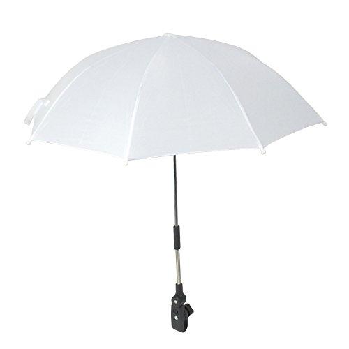 Babys Kinderwagen Buggy Kinderwagen Regenschirm-für Schutz vor Sonne, Weiß, 1 Stück