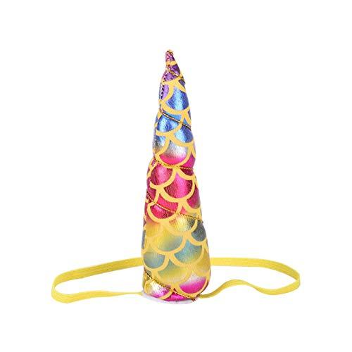 aiyinhuofen Wunderbare 10 Stück Einhorn Horn Stirnbänder Glitzer Elastisch Stirnband für Jungen oder Mädchen Geburtstag Party Kopfschmuck Party Dekoration für Zuhause Dekoration Number Three. (Einhorn Beanie Baby Kostüm)
