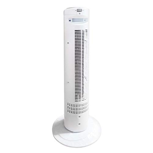 LIX-Air Cooler Swing Tower Fan Mit Fernbedienung, 3 Windgeschwindigkeiten, AC, Touch Panel Mit Timing, Mute, Tragbarer Griff, Für Personal Space Office, Weiß (Farbe : Weiß) -