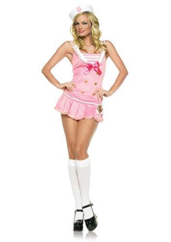 Teiliges Matrosen 2 Kostüm - Leg Avenue Frauen Matrosen Kostüm 2-teilig, 1 Stück