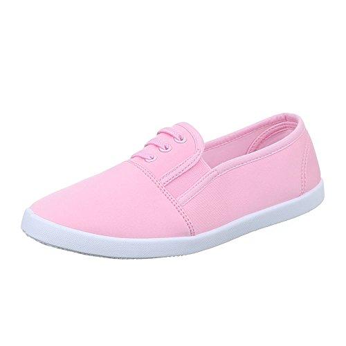 Damen Schuhe, C27-4, FREIZEITSCHUHE SNEAKERS SLIPPER Rosa