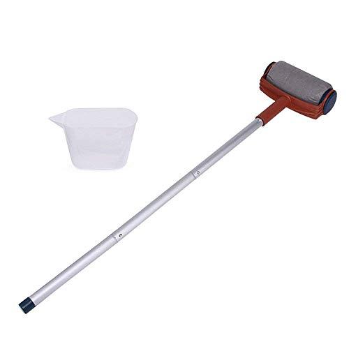 Rishx pennello rullo regolabile per vernice, multifunzione manico lungo pennello rullo telescopico fai da te pittura decorazione kit di strumenti muro di casa con 3 tubi in alluminio