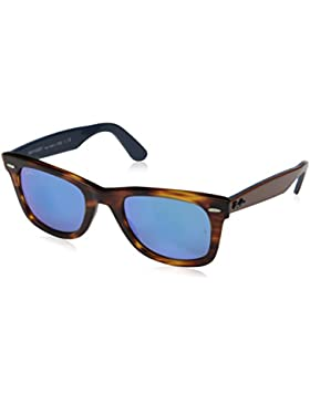 Ray-Ban MOD. 2140, Gafas de Sol Unisex, Multicolor (Grey Mirror & Blue Top), 50 mm