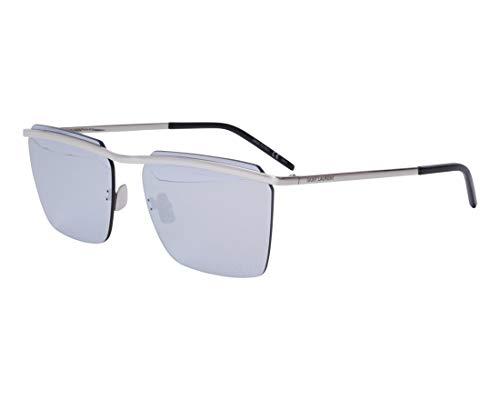 Yves Saint Laurent Sonnenbrillen (SL-243 005) silber - grau mit silber verspiegelt effekt