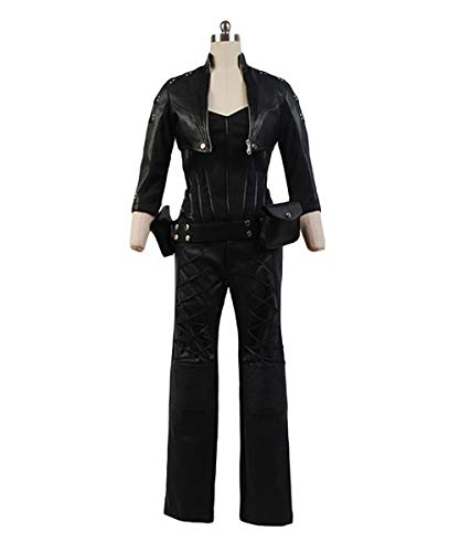 MingoTor Superheld Cosplay Kostüm Kunstleder Outfit Damen XS