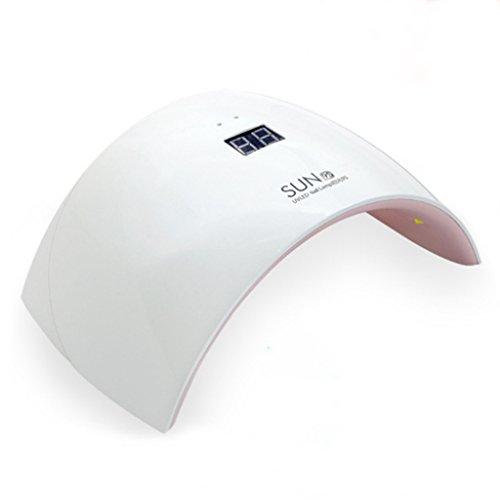 SUN9C/9S 24W Lámpara De Uñas LED UV Secador De Uñas con 2 Ajustes De Temporizador (30S/60S) para Uñas Y Uñas De Los Pies Uso Doméstico,SUN9S