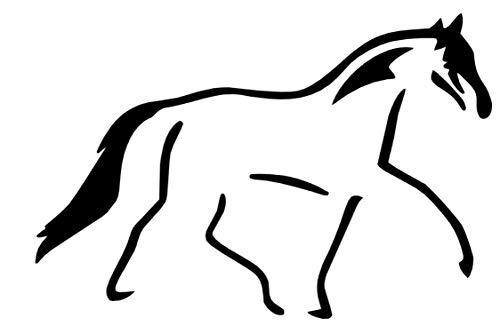 generisch Pferde Aufkleber, Reitsport, Horse, Pferde Sport, Wandtattoo, Silhouette Aufkleber, (256/7) (Farbauswahl aus Farbtabelle, 15 cm)