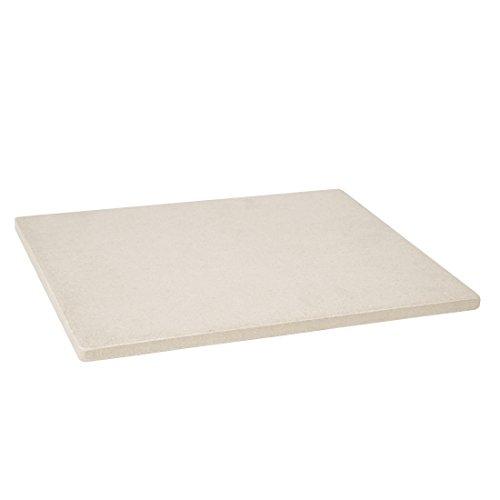 Levivo Pizzastein/Brotbackstein aus hitzebeständigem Cordierit, 30 x 38 x 1,5 cm
