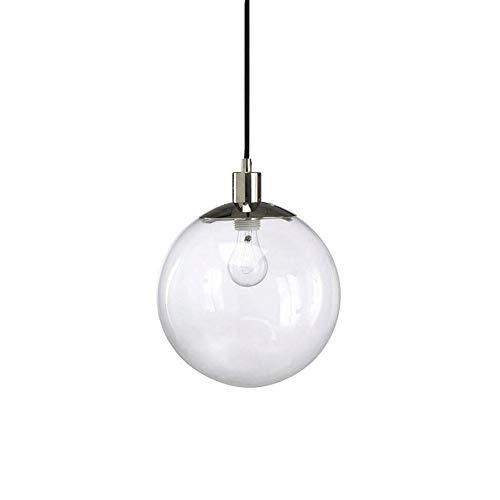 WuZhong F Moderne Mode Sphärische Hängelampe Einkopf-Glasleuchter Minimalistische Bar Bekleidungsgeschäft Schlafzimmer Nachttischlampe Ohne Lichtquelle (Alte Mode, Dach 15)