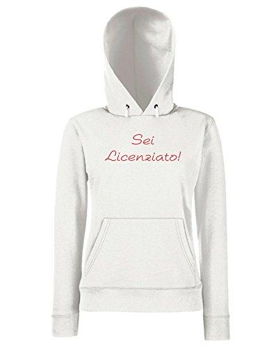 T-Shirtshock - Sweats a capuche Femme TDM00247 sei licenziato Blanc