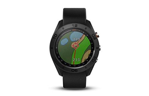 Garmin Approach S60 - Reloj de Golf GPS con Correa de Piel Negra, 1,2 Pulgadas