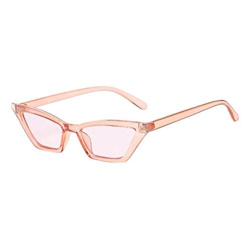 Makefortune Frauen Sonnenbrillen, Frauen-Weinlese-Katzenaugen-Sonnenbrille-Retro- kleiner Rahmen UV400 Eyewear arbeiten Damen-Gläser um (A)