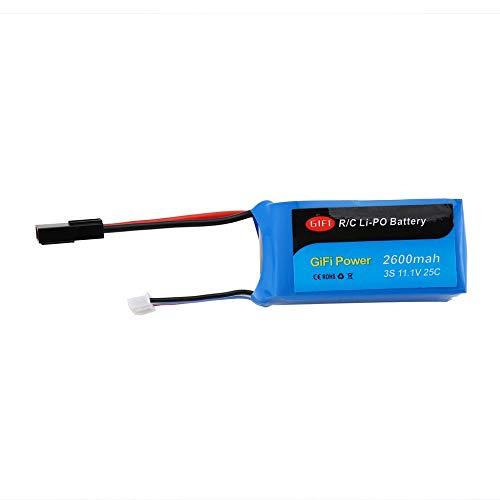 Justdodo Batteria di Grande capacità 11.1V 2600mAh Batteria di Ricambio per Drone Batteria Lipo per Parrot AR Drone 1.0 e 2.0-Blu