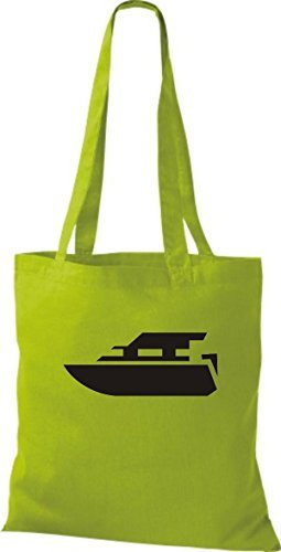 JUTA Tote Bag BARCA MOTORE, YACHT, barca,SKIPPER, CAPITANO Kiwi
