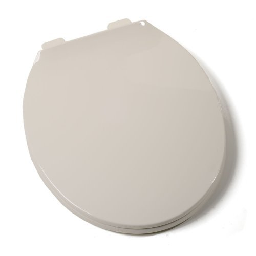 Comfort Seats C1B3R3-02 Deluxe Plastic Contemporary Toilet Seat, Round, Biscuit by Comfort Seats