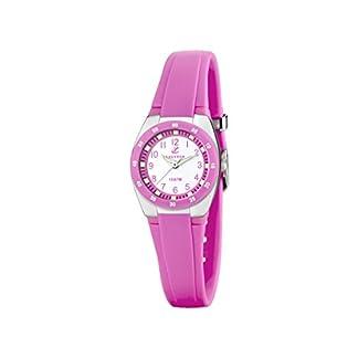 Calypso Watches K6043 – Reloj Analógico de Cuarzo para Mujer, Correa de Plástico Color Rosa