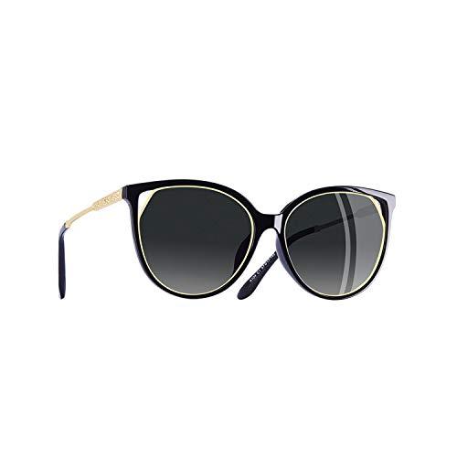 Sport-Sonnenbrillen, Vintage Sonnenbrillen, Cat Eye Sunglasses Women's Polarized Fashion Sun Glasses For Women Rhinestone Temple Goggles UV400 A104 C1Gray