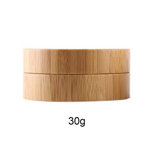 Presentimer 30g tragbare Bambus Material splitterresistente Creme Creme subflasche kosmetische verpackung Box Natur Aufbewahrungsbox (OPP)