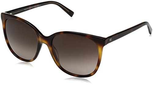 Tommy Hilfiger Damen TH 1448/S J6 9UO 56 Sonnenbrille, Gelb (Yellow/Brown),