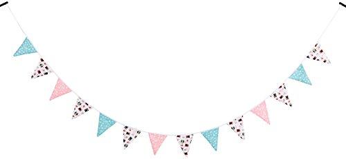 Ginger Ray Owl Blumen, Stoff Bunting Dekoration Hochzeit oder Party - (Owl Dekorationen Party)