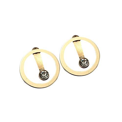 Damen Ohrringe ohne Anhänger Stylish Ohrclip mit Strass Ohrstecker Ohrschmuck für Frauen Mädchen
