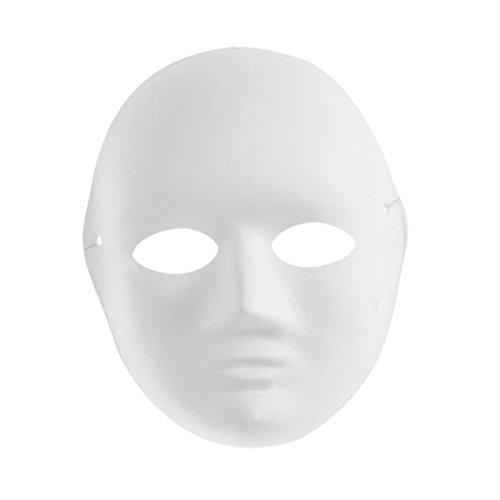 BESTOYARD DIY Damen Malerei Maske Darstellende Maske Zellstoff Leere Weiße Maske für Kinder Erwachsene Cosplay
