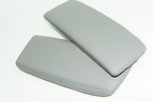 acura-rl-leather-taupe-gray-center-console-armrest-covers-leather-part-only-by-aaaupholster