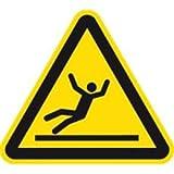 Schild Warnung vor Rutschgefahr nach ISO 7010 40cm sl Alu gemäß ISO 7010, W011