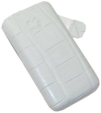 Suncase Housse pour Apple iPhone 4/4S croco-white