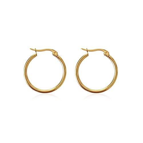 "rimchen Ohrringe Ohrstecker Modeschmuck ""Creolen"" Farbe: Gold/Material: Edelstahl"