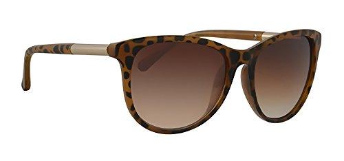 A-Urban Damen Sonnenbrille LF556F2 Damen Brillen Fassung braun silber, Linse braun verlaufend