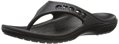 Crocs Baya Flip, Unisex Adult Flip, Black (Black), M3/W4 UK