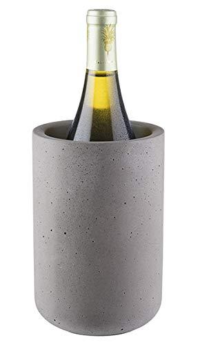 """Buddy´s Bar - Flaschenkühler """"Concrete"""", hochwertiger Sektkühler aus Beton, 12 x 19 cm, möbelschonende Unterseite, Weinkühler geeignet für 0,7 L - 1,5 L Flaschen, Beton grau"""