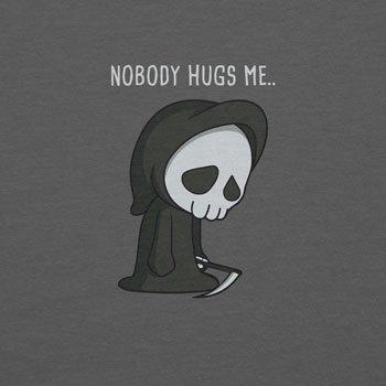 Planet Nerd - Nobody Hugs Me - Herren Kapuzenpullover Grau