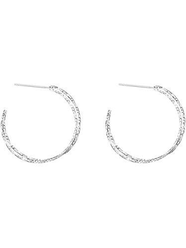 Ohrringe Retro Stern Lithographie Blume Twist Doppel S925 Sterling Silber Ohrstecker persönlichen Port Wind Ohrringe weiblich