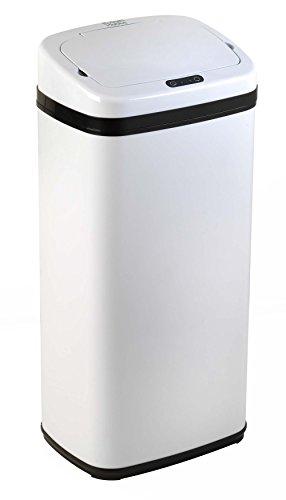 Russell Hobbs BW04511Cubo de Basura Manos Libres, con Sensor de Movimiento, 30 l, Metal, Blanco, 30 L