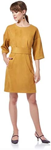 Bee U womens Loose Suede Dress