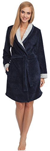 Merry Style Donna Accappatoio 13012 Navy/Bianco
