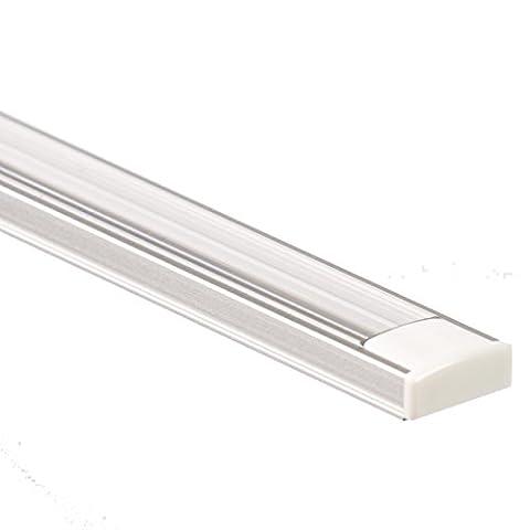 LED Aluminium Profil PL1 Anser 2 Meter für LED Streifen plus Abdeckung Klar Aluprofil