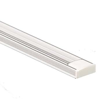 led aluminium profil pl1 anser 2 meter f r led streifen plus abdeckung klar aluprofil. Black Bedroom Furniture Sets. Home Design Ideas