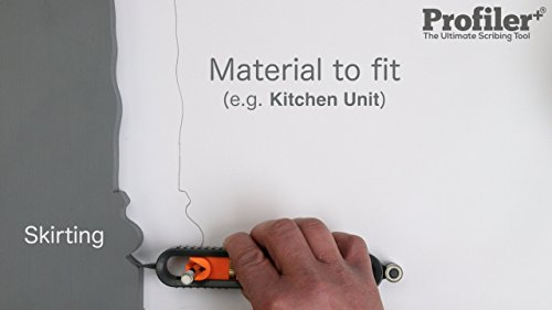Profiler+ is the ultimate scribing tool for joiners, shopfitters, kitchen/window/bathroom installers and other craftsmen. Profiler+ has a robust construction designed to meet the demands of industry, sure-grip ergonomic design for ease of use and a compact size to work where space is limited. Profiler+ can reproduce any profile, on any material, with speed, accuracy and precision. Just SCRIBE then CUT & FIT. by Profiler+ the Ultimate Scribing Tool