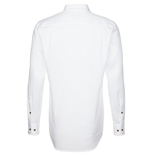 Seidensticker Herren Langarm Hemd Splendesto Regular Fit Button-Down-Kragen weiß 387968.01 Weiß