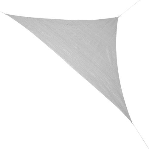 Corasol COR10RA36-SG Premium Sonnensegel 3,6 x 3,6 x 5 m, 90 Grad Dreieck, silbergrau