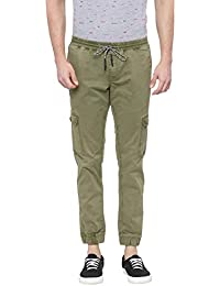 BASICS Jogger Fit Avocado Green Cargo Stretch Jogger